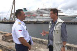 Último navio de temporada de cruzeiros passa por inspeção no Porto de Manaus
