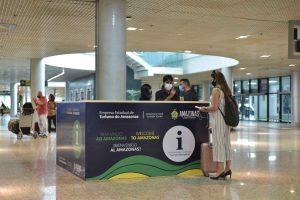 Amazonastur reativa Centro de Atendimento ao Turista (CAT) no aeroporto de Manaus